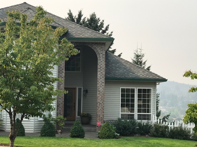Exterior shot of a traditional style house constructed in Portland.