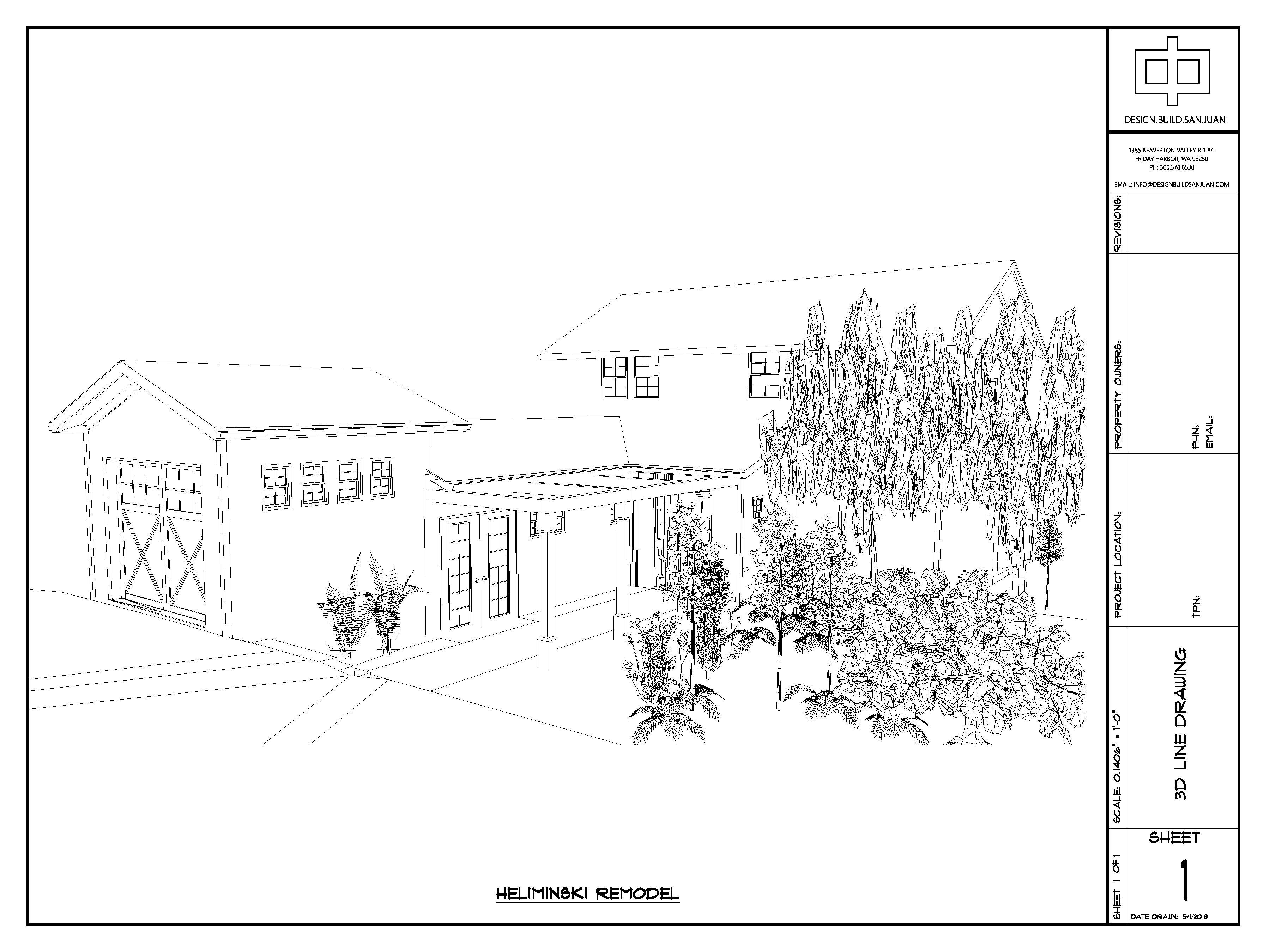 3D Line Drawing Example Design Build San Juan